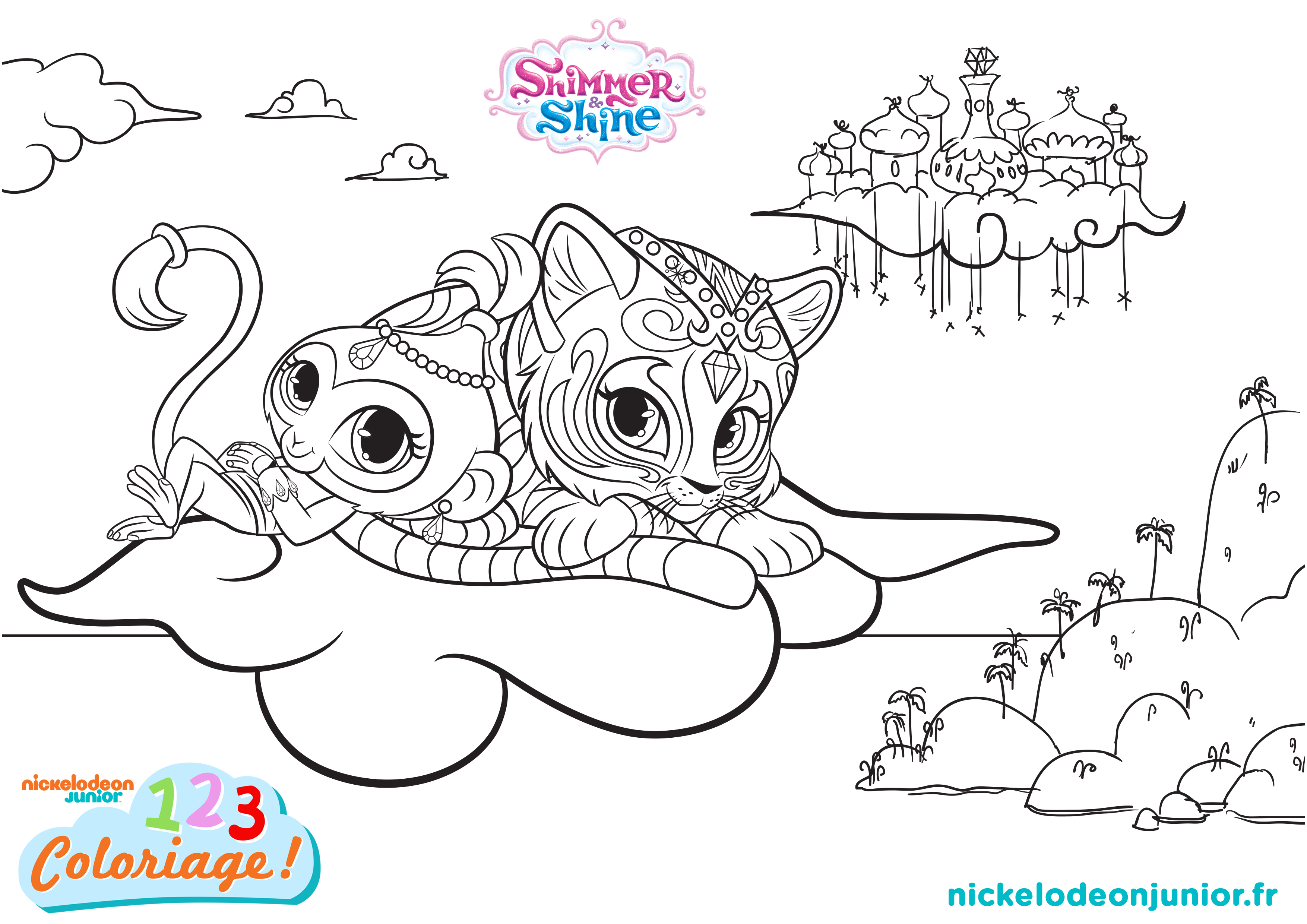 coloriages shimmer shine episode 108