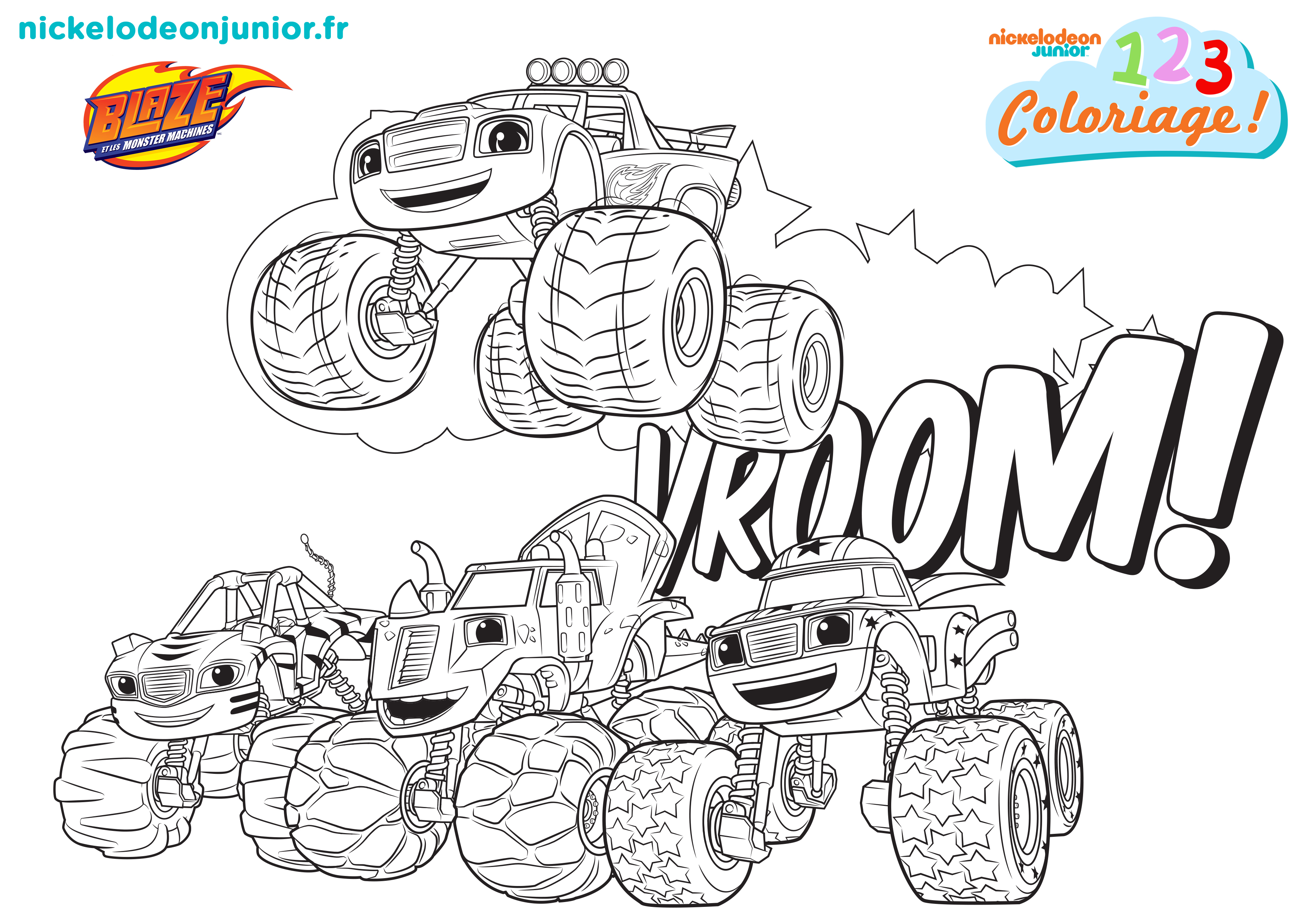 Coloriages Paw Patrol Blaze Et Les Monster Machines