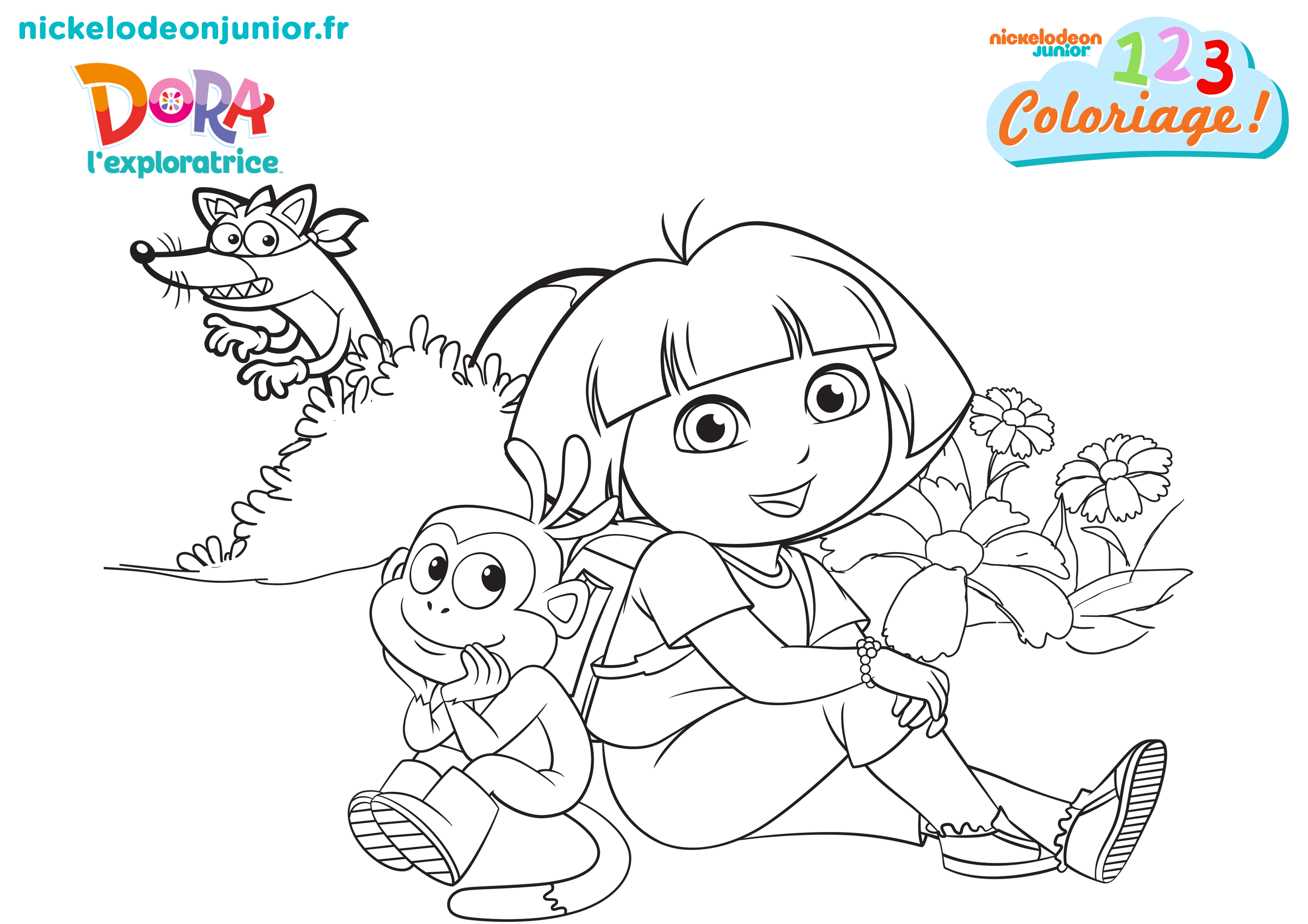 The gallery for go diego go and dora - Coloriages dora ...