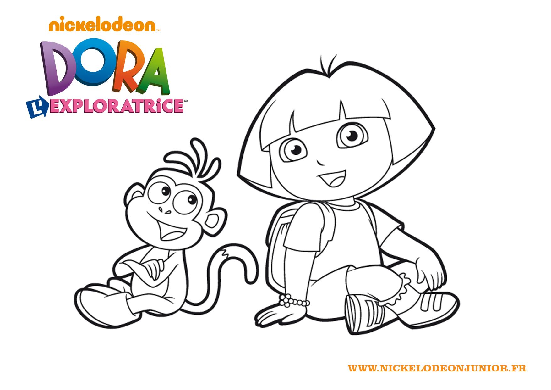 Impressionnant dessins a colorier dora et babouche - Dessin de dora et babouche ...